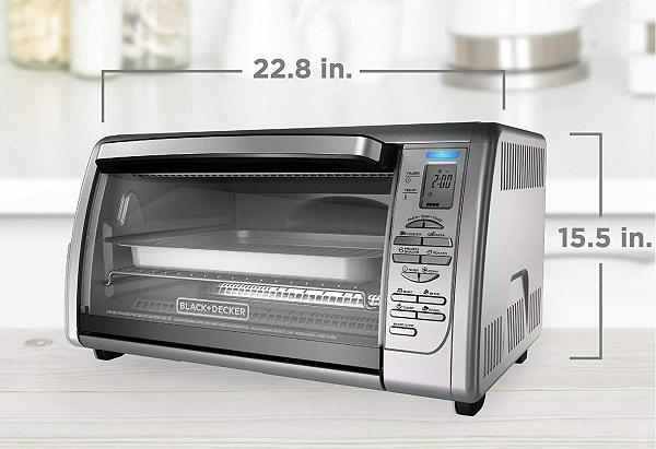 BLACKDECKER Countertop Convection Toaster Oven Silve CTO6335S